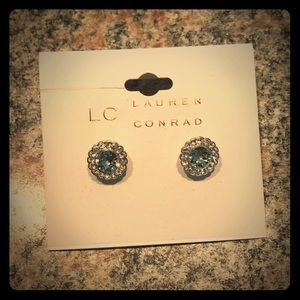 LC Lauren Conrad Simulated Crystal Stud Earrings
